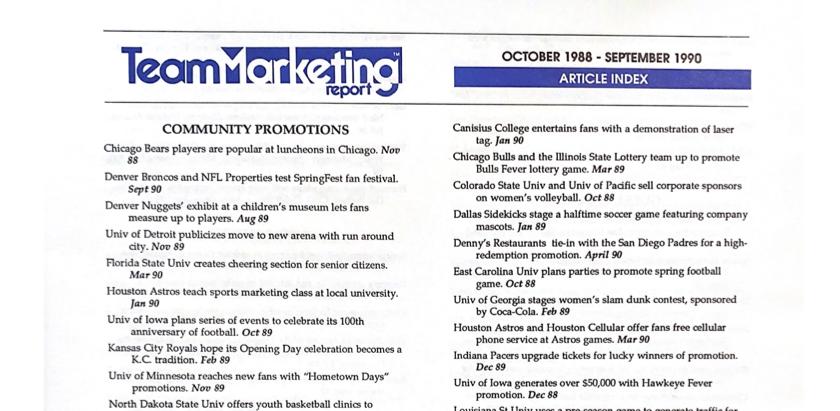 INDEX: Oct 1988 – Sep 1990 (Vol 1 & 2)