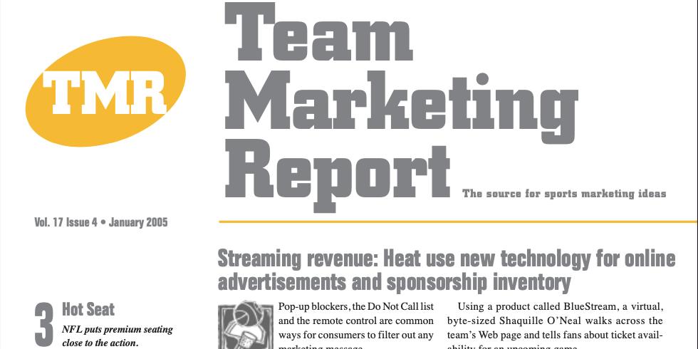 Team Marketing Report – Jan 2005 (Vol 17, Issue 04)