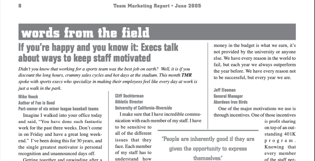Team Marketing Report – Jun 2005 (Vol 17, Issue 09)
